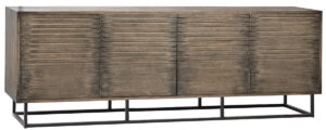 Gasford Black Weathered Oak Low Media Console