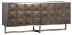 Yvan Black Grey Wood Media Cabinet