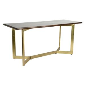 Kade Wood and Brass Gathering Table
