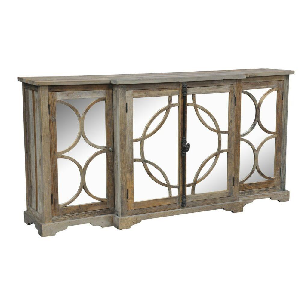 Wells Reclaimed Wood Mirrored Sideboard