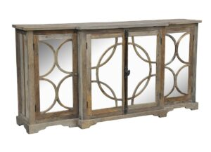 Wells Reclaimed Wood Mirrored Sideboard