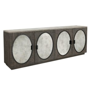 Wilder Reclaimed Wood and Stone Sideboard