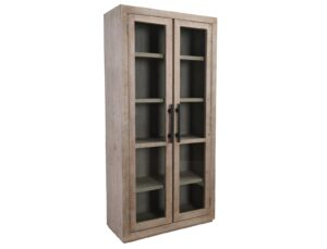 Alida Reclaimed Wood Tall Glass Cabinet
