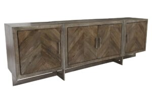 Hoover Chevron Mango Wood Media Console