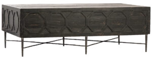 Harten Black Reclaimed Wood Coffee Table