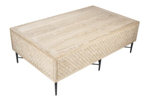 Dorian White Wash Wood Coffee Table
