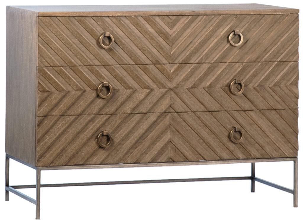 Ivalo Old Mindi Grey Wood and Iron Dresser