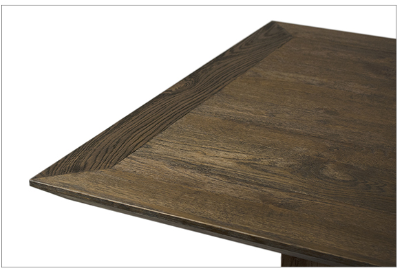 Bendigo Oak Wood Dining Table closeup view