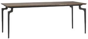 79″ Arvika Mango Wood and Iron Dining Table