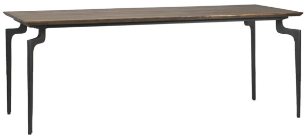 Avrika Mango Wood and Iron Dining Table front view