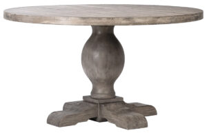 Baxley Round Light Pine Wood Dining Table