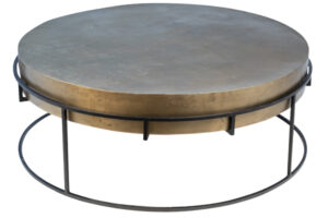 Alegra Round Aluminum and Iron Coffee Table