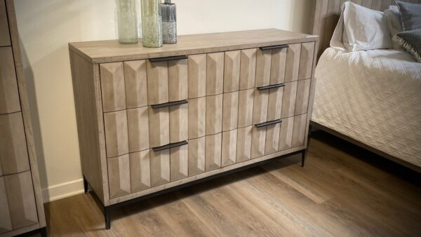 Grey Wash dresser with metal legs