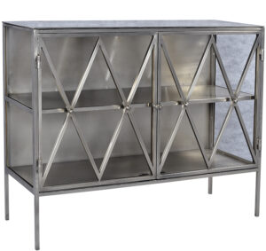 Iron and Glass Medium Size Sideboard
