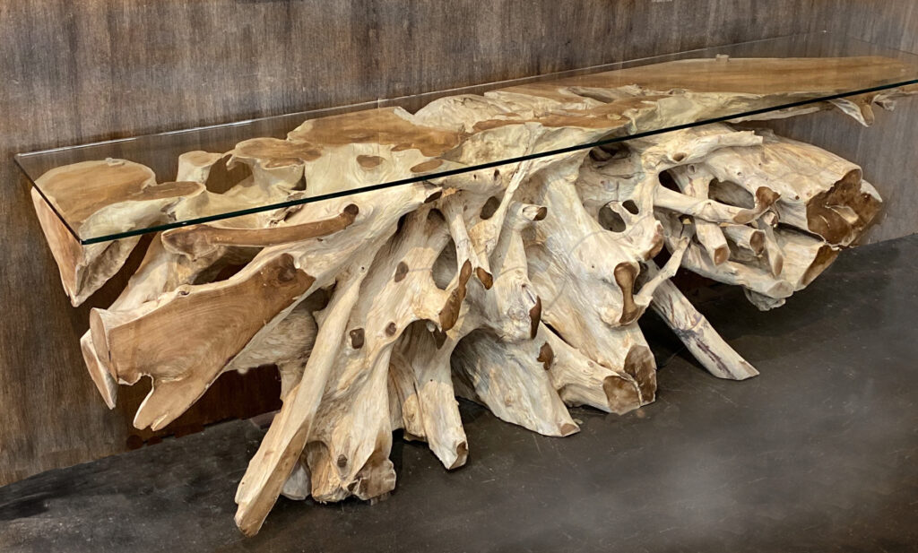 Organic Teak Root Console Table
