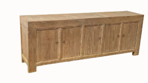 Natural Solid Wood Long Sideboard Media Console