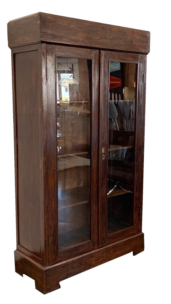Vintage Bali Armoire with Glass Doors