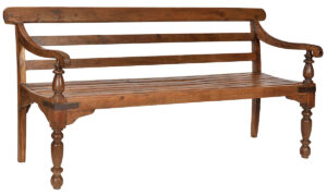 Vintage Colonial Style Teak Bench