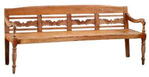 Vintage Indonesian Teak Bench