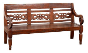 Solid Teak Bench from Java