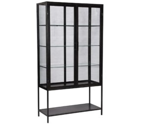 Cardona Tall Iron Glass Cabinet