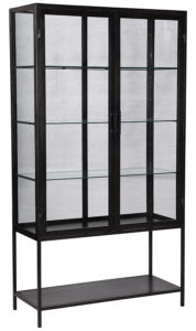 Cardona Tall Iron Glass Cabinet