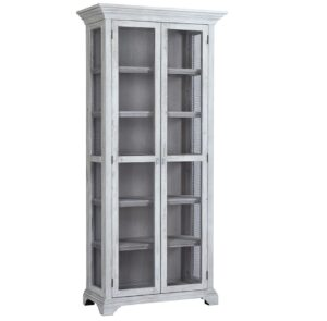 Amis Tall White Mesh Display Cabinet