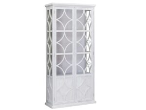 Rivera White Tall Glass Cabinet