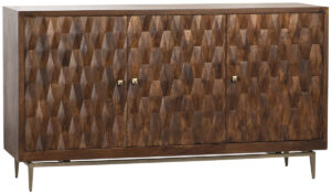 Halifax Mango Wood 3 Dr Tv Cabinet Sideboard