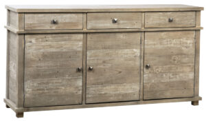 Vardy Reclaimed Pine Wood  Gray Wash Sideboard