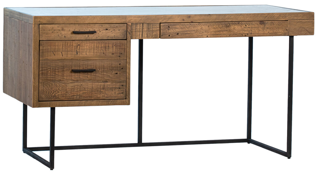 Alki Reclaimed Wood and Iron Desk