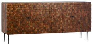 Ortega Mango Wood Patterned Sideboard