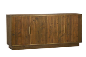 Watford Wood and Brass Media Sideboard