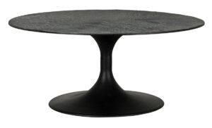 Crestview Dark Oak Wood Round Coffee Table