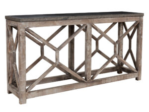 Rebecca Blue Stone and Wood Console Table