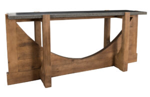 Vancouver Blue Stone Top and Wood Console Table