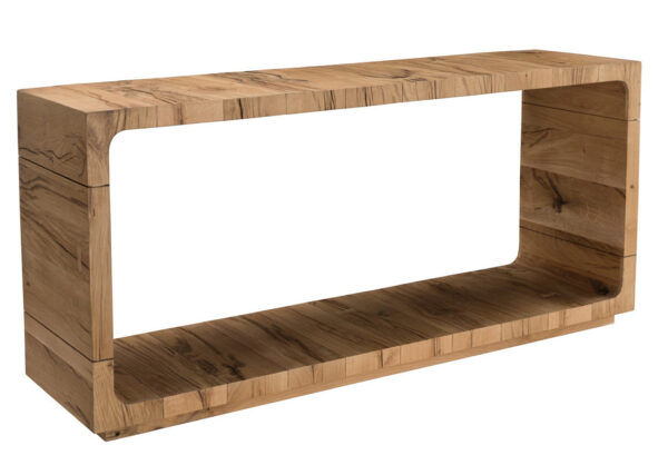 Console table with base