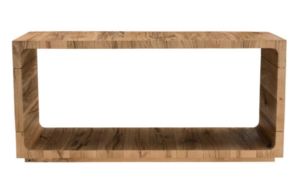 Console table with base front view
