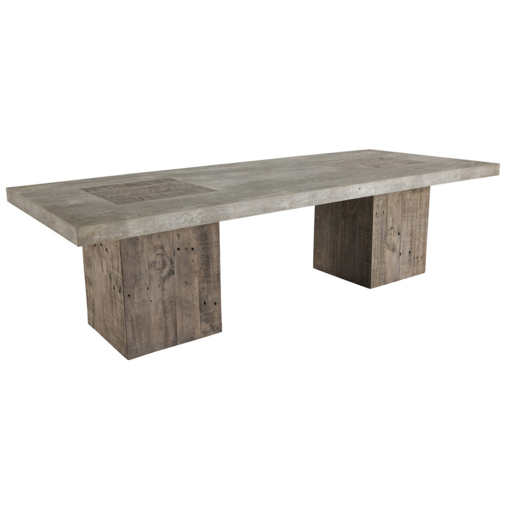 Phoenix Wood and Cement Coffee Table
