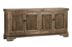 Amita Misty Mocha Carved Wood Sideboard