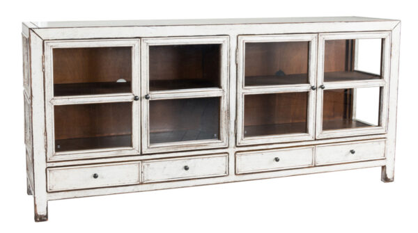 white wood glass cabinet