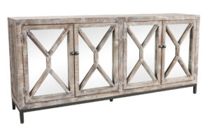 Whitewash Maywood Mirrored Sideboard