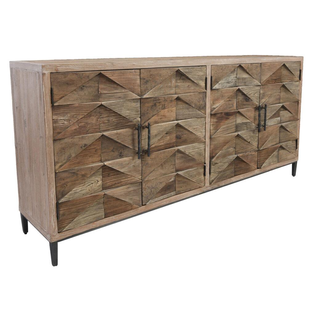 Rustic Maverick Reclaimed Wood Media Cabinet