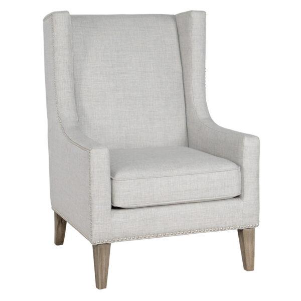light grey accent chair