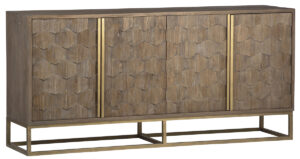 Trento Reclaimed Wood and Brass Cabinet