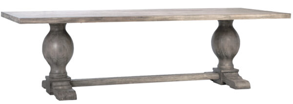 Long grey wash trestle dining table