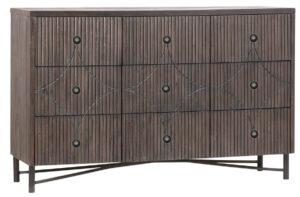 Kershaw Medium Brown Wood Dresser