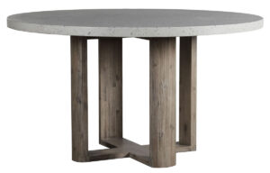 Durano Round Terrazzo and Wood Dining Table