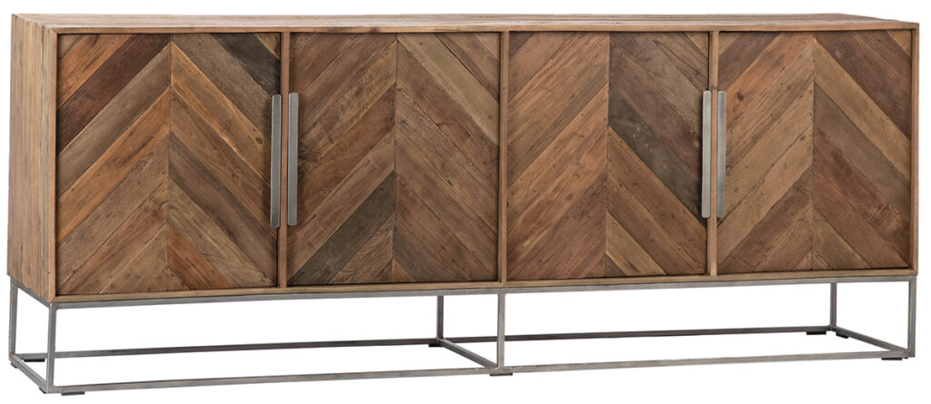 Hunt Reclaimed Wood and Metal Media Cabinet