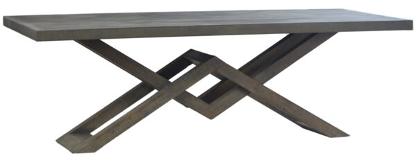 Kane dining table with concrete laminate top